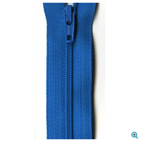 "18"" blue zipper"