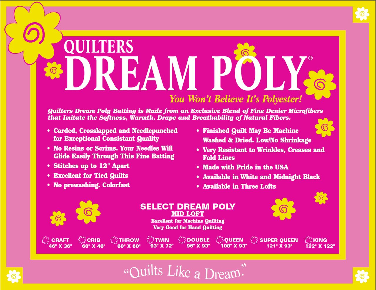 quilters dream poly select