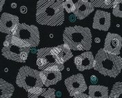 black geometric fabric
