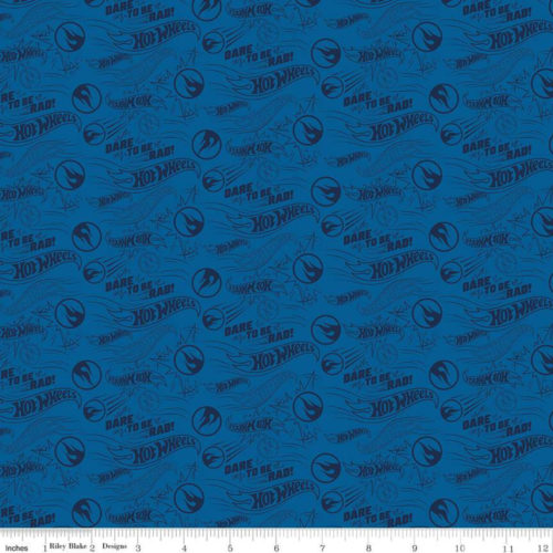 navy hot wheels fabric