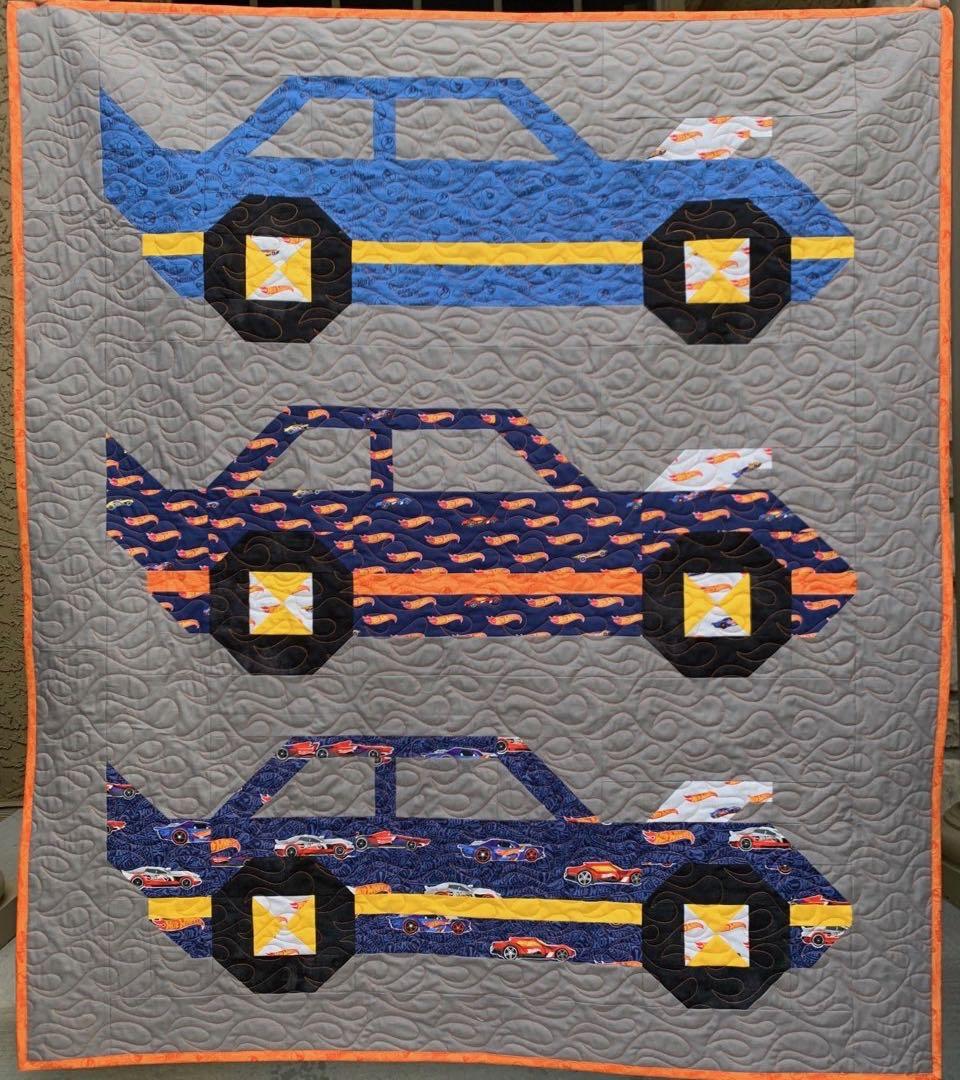 hot wheels quilt kit