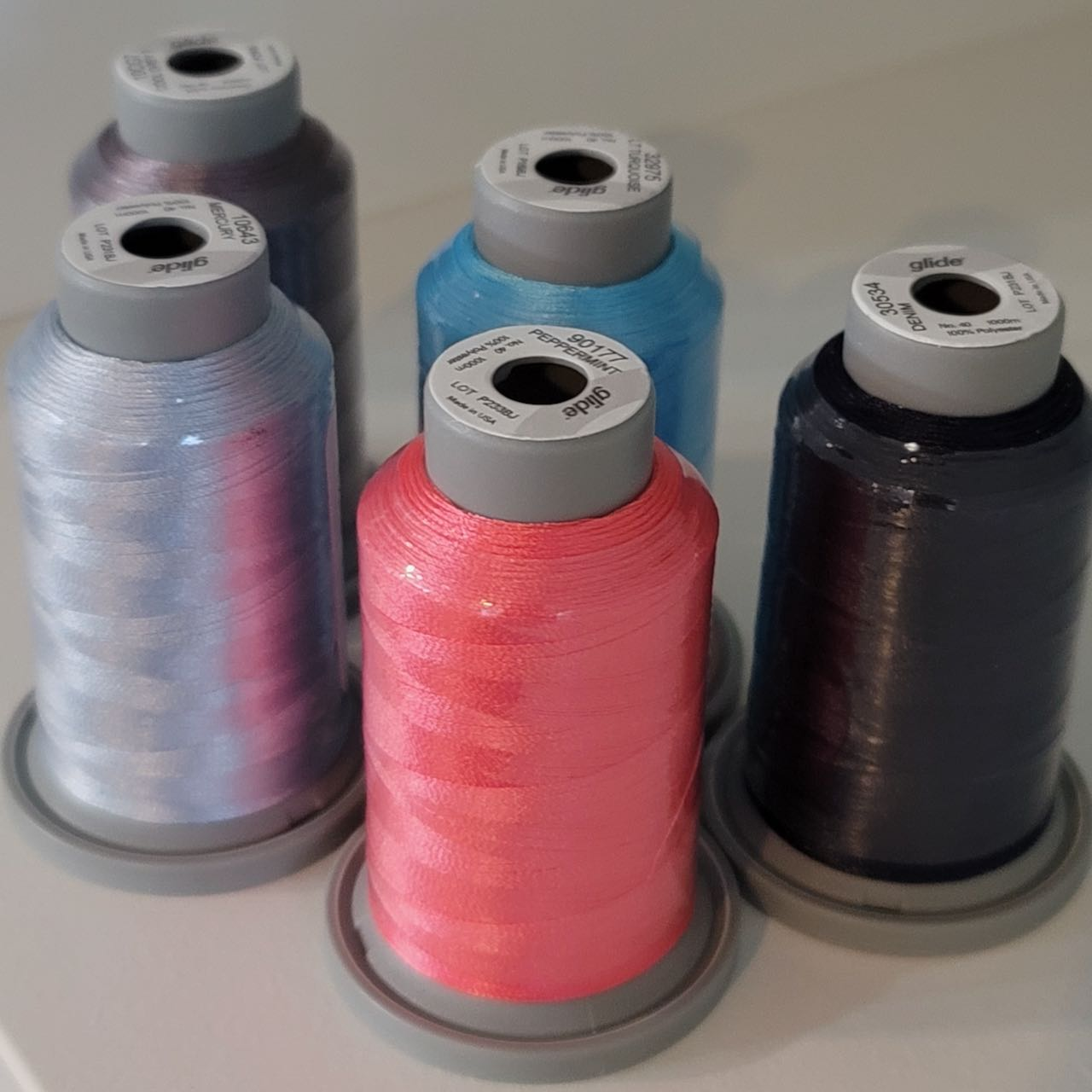 machine quilting with rulers thread