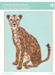 cheetah abstractions quilt kit