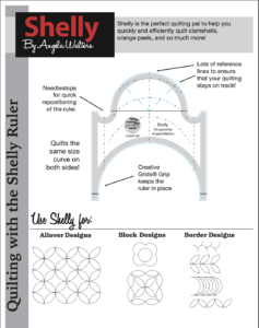 shelly ruler pdf tip sheet from Creative Grids
