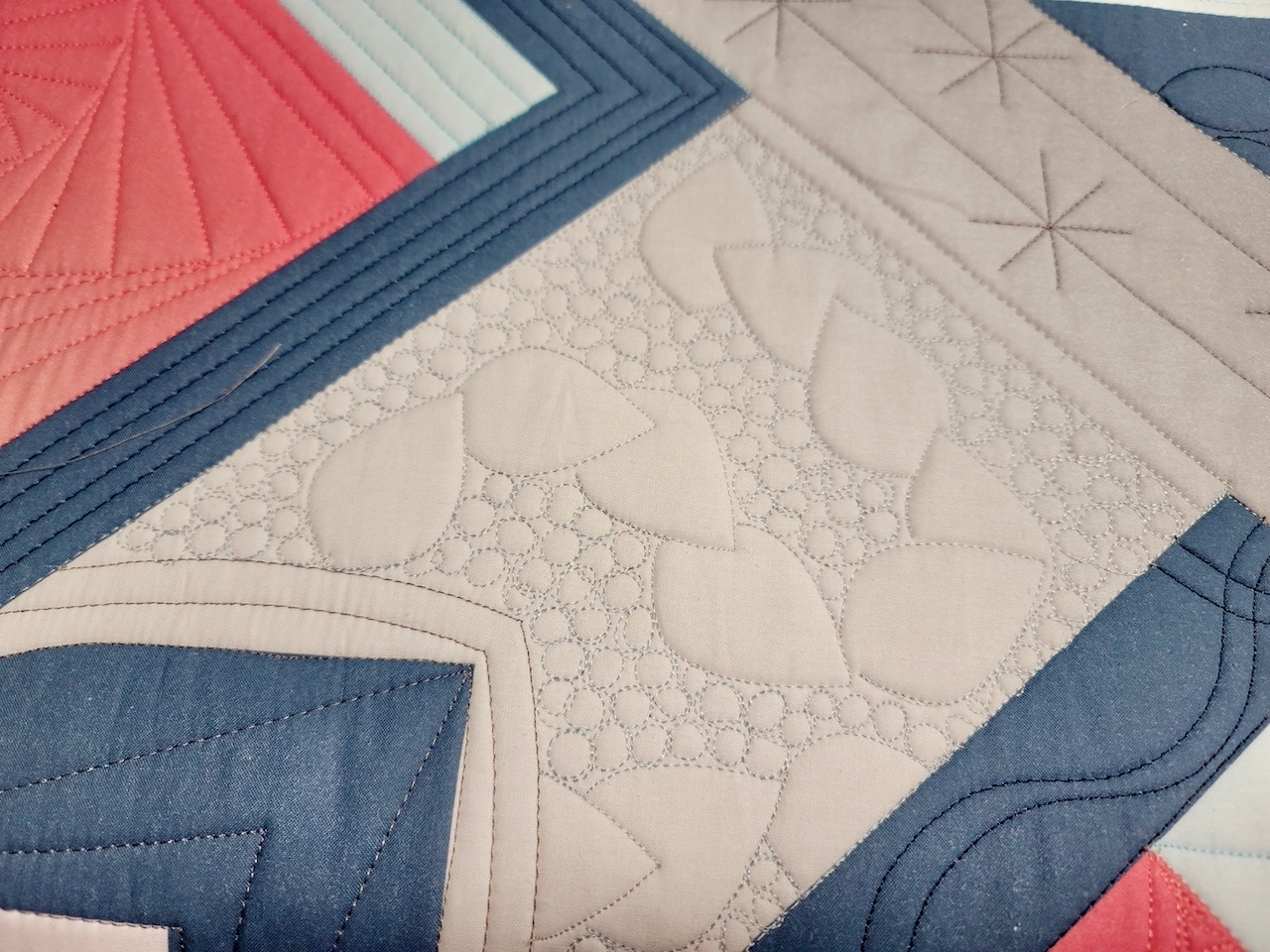 machine quilting with rulers