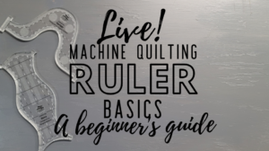 machine quilting with rulers beginners basics