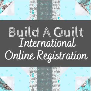 build a quilt international address