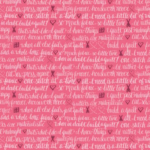 inked rainbow pink script