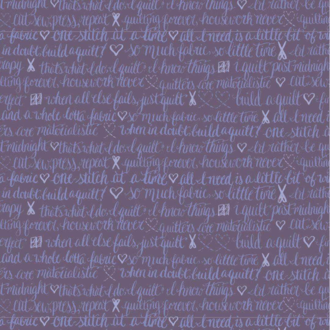 inked rainbow purple script
