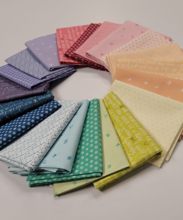 inked rainbow fat quarter collection