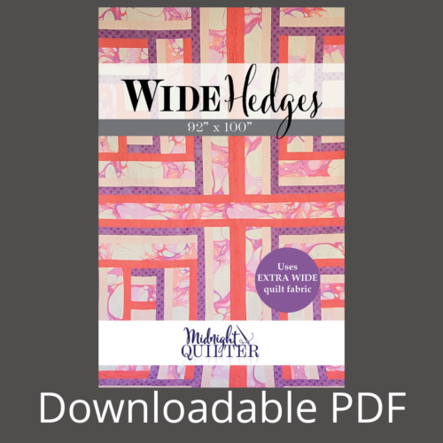 wide hedges pdf pattern