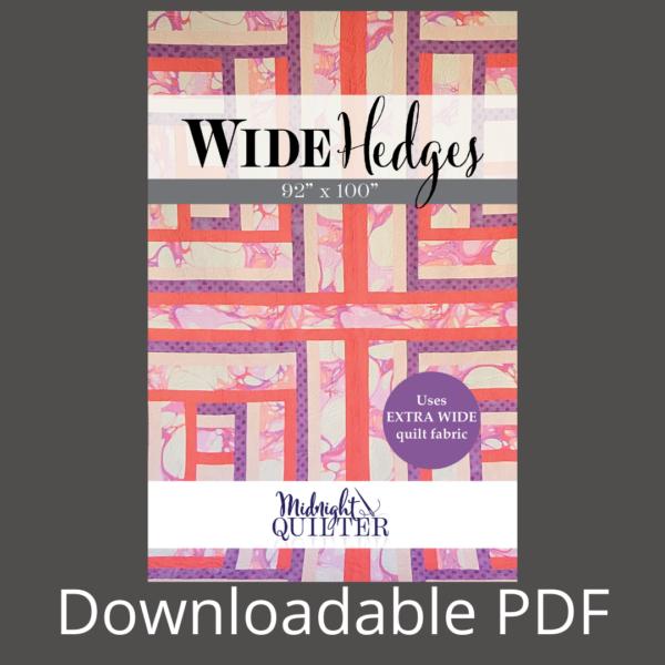 wide hedges pdf pattern
