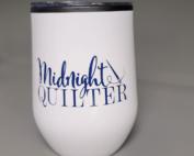 midnight quilter stemless wine tumbler