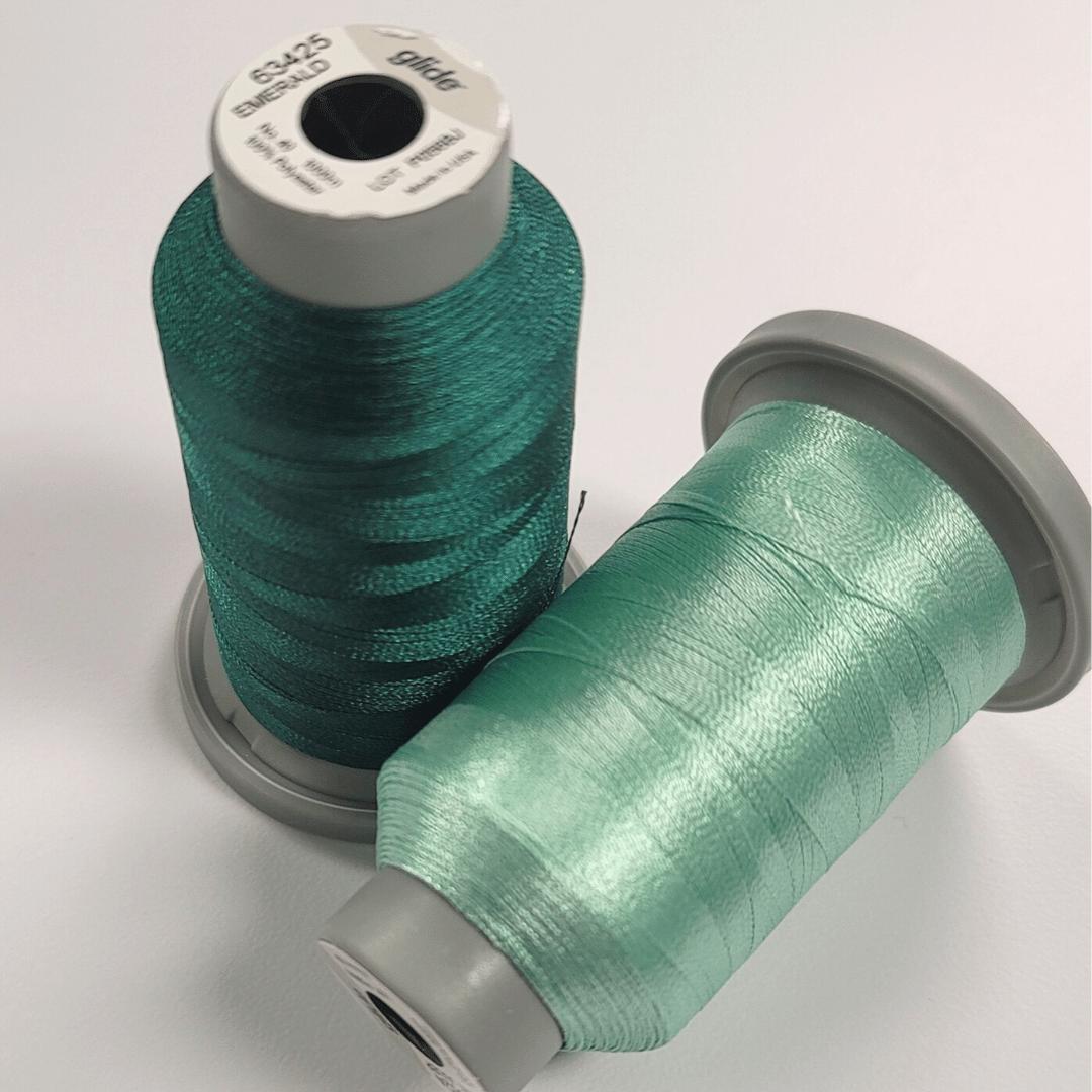 wide hedges green machine quilting threads