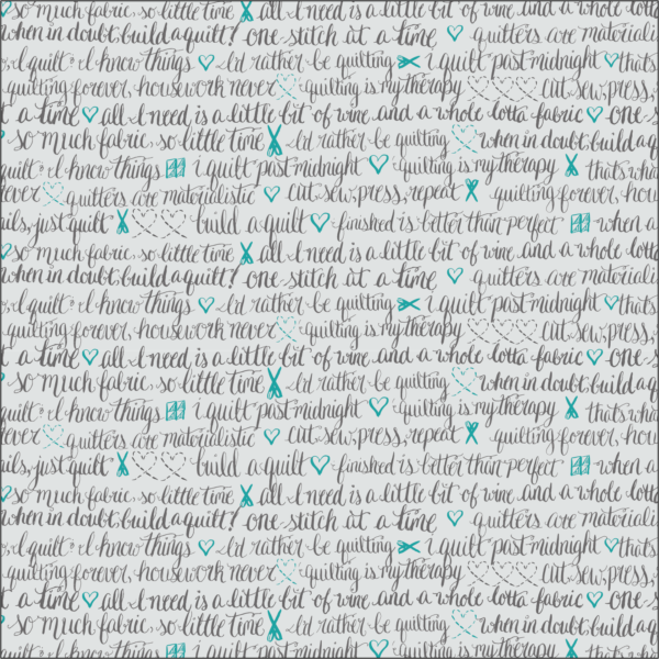 quilting fabric with words