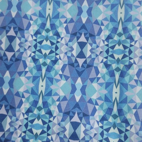 purple geometric fabric