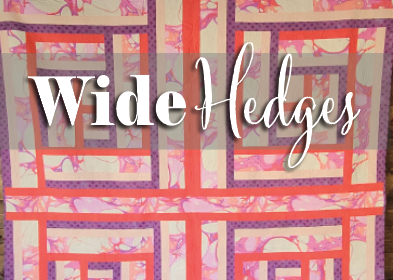 wide hedges quilt with tula pink fabric