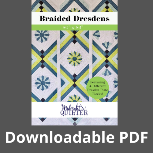 braided dresdens pattern