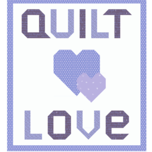 quilt love purple kit