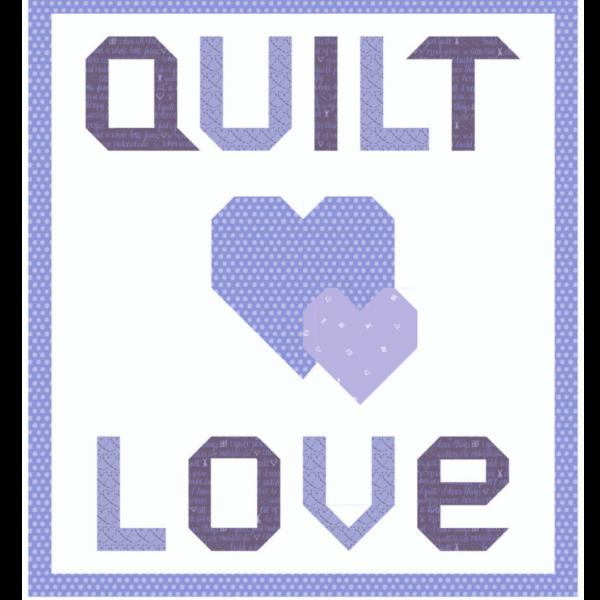 quilt love purple kit