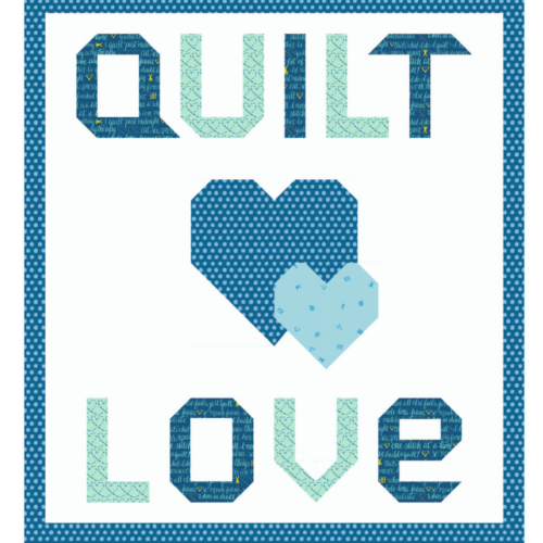 quilt love blue quilt kit