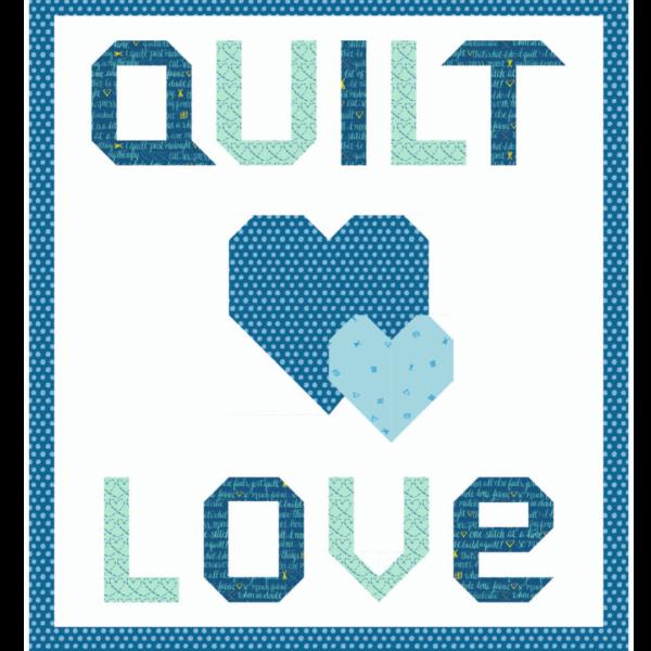 quilt love blue quilt kit