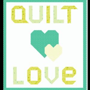 quilt love green quilt kit