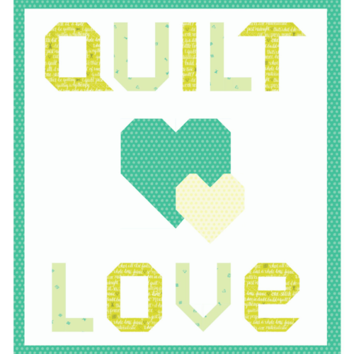quilt love green quilt kit