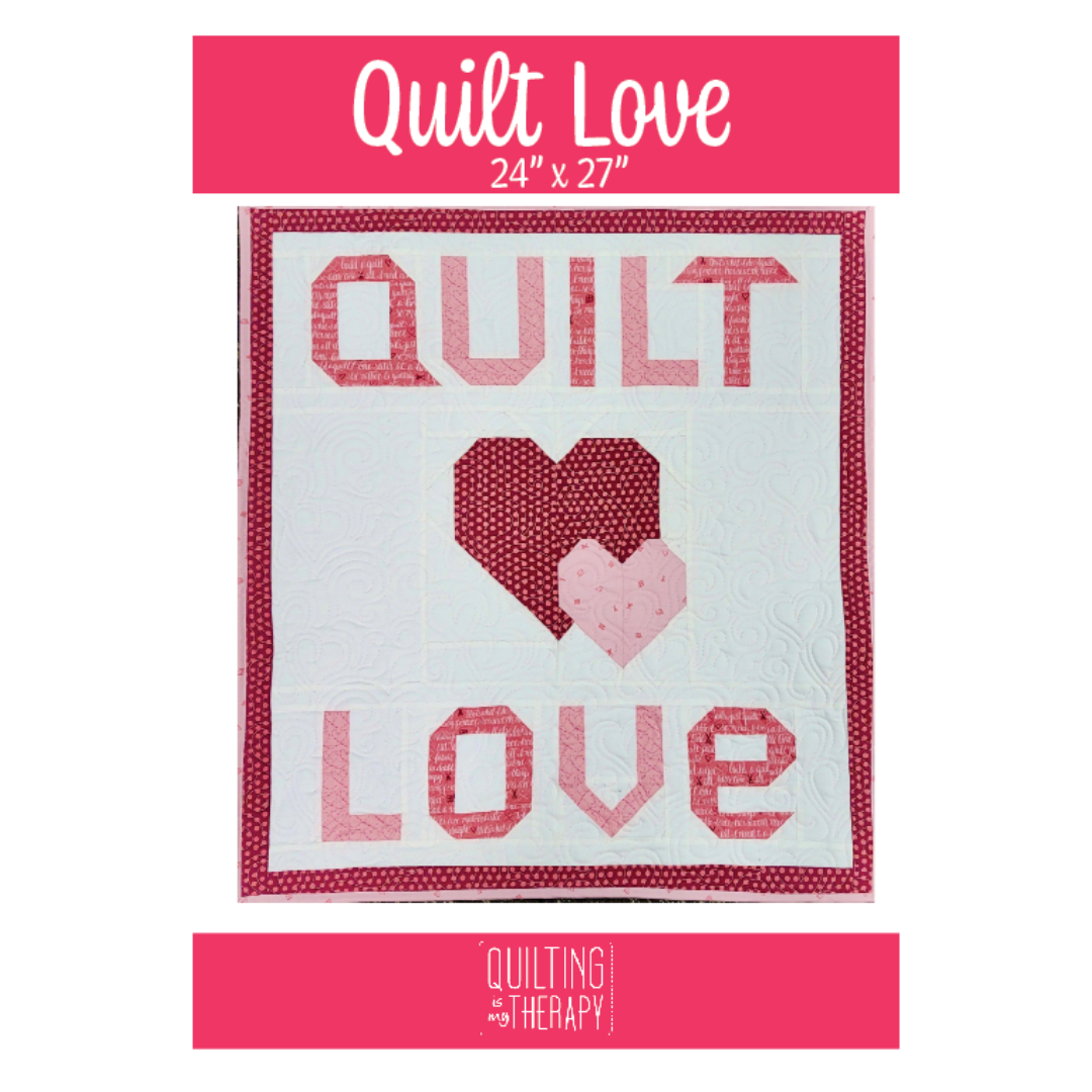 quilt love printed pattern