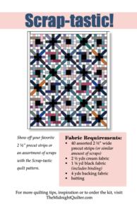 scraptastic quilt pattern