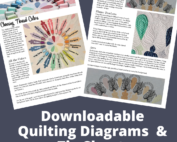 downloadable quilting diagrams and tip sheet