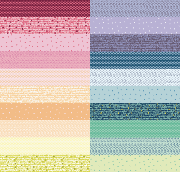 inked rainbow quilt panel