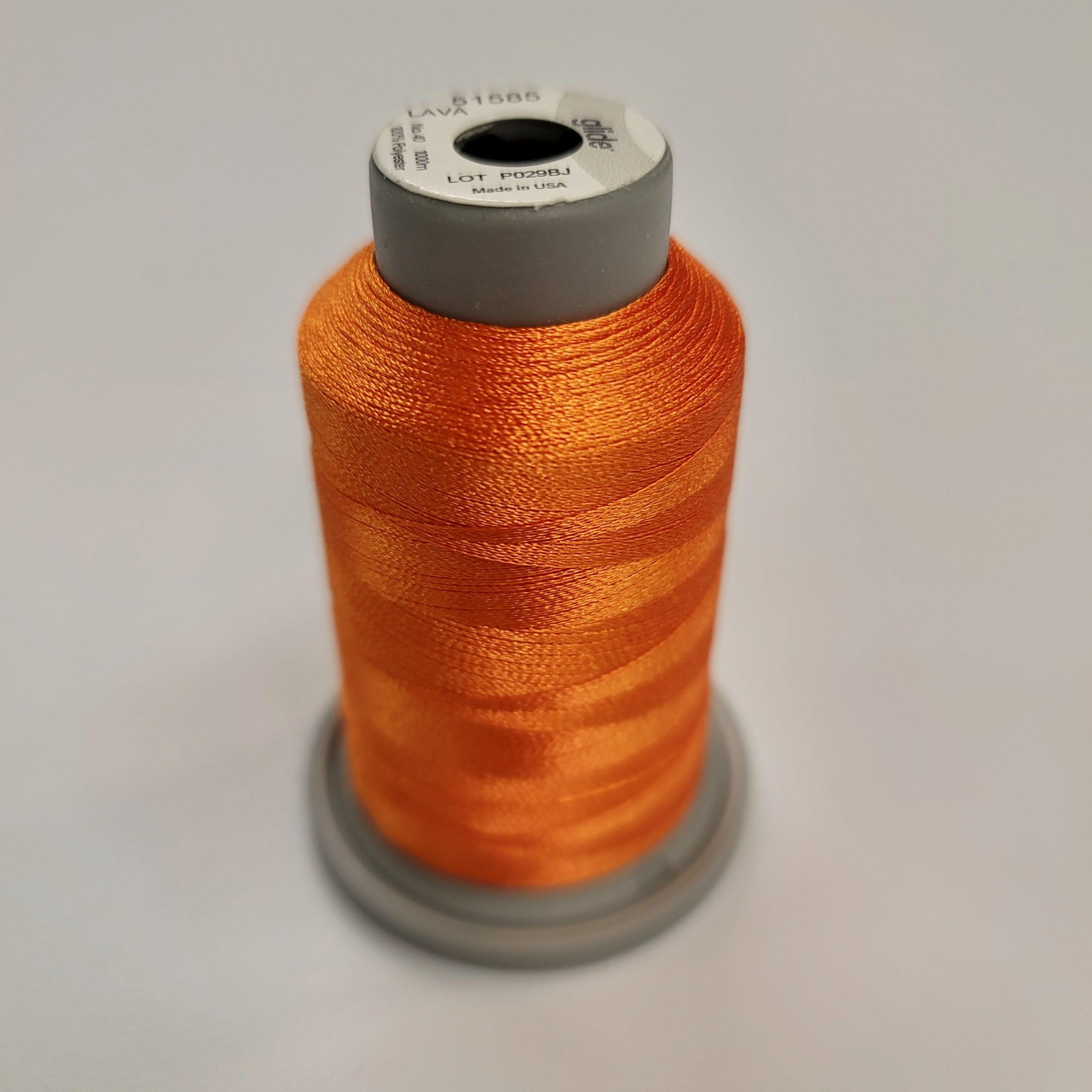 lava orange glide machine quilting thread