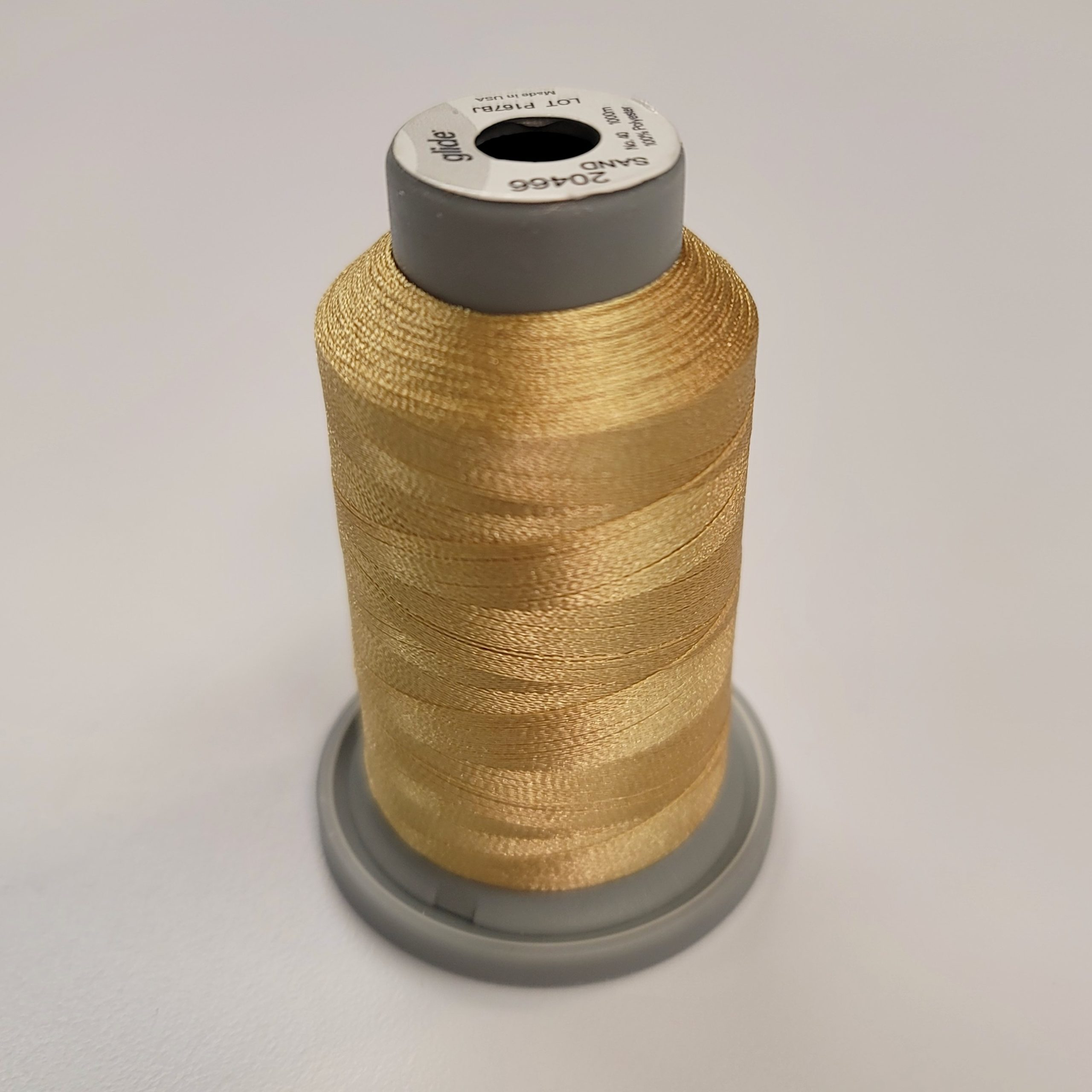 sand tan glide machine quilting thread