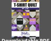 tshirt quilt pattern downloadable