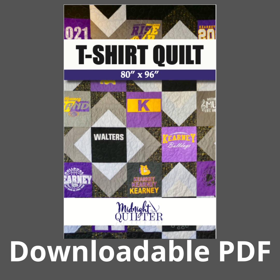 tshirt quilt pattern downloadable