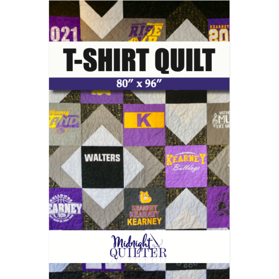 t-shirt quilt pattern midnight quilter