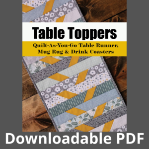 quilt as you go table runner pattern