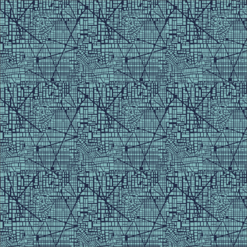 Blue foundations fabric