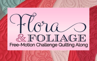 free-motion challenge quilting along