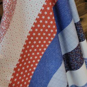 patriotic flag day fabric panel