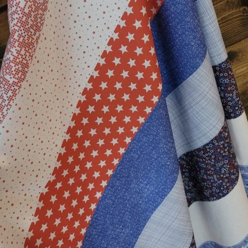patriotic flag day fabric panel