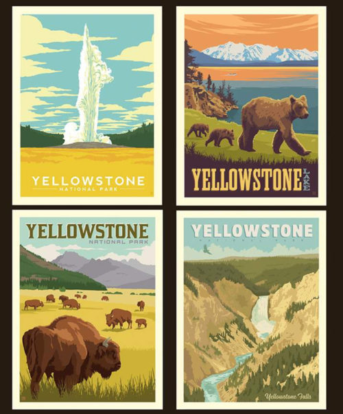yellowstone pillow poster fabric panel