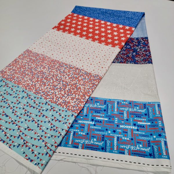 flag day quilt fabric panel