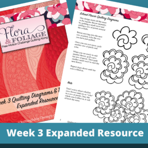 how to quilt the flower meander