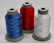 red white and blue machine quilting thread