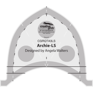 archie low shank machine quilting ruler