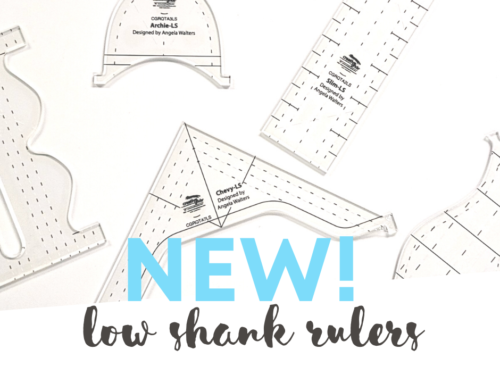 Check Out My Brand New Low Shank Machine Quilting Rulers