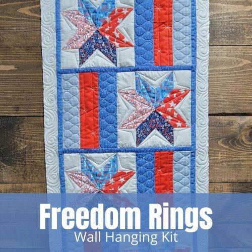 patriotic wall quilt hanging kit