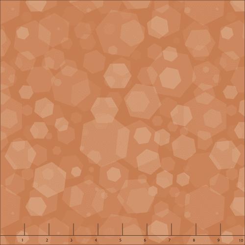 dark orange quilting fabric
